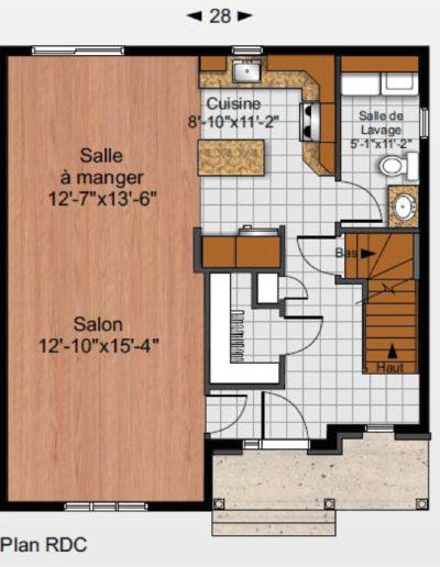 Construction-Mario-Dion_Modele-Gauthier-Plan-RDC-01